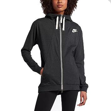 Nike NSW Gym Hoodie Sudadera, Mujer, Black/Heather, XS: Amazon.es: Deportes y aire libre