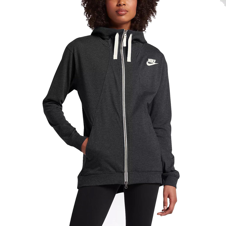Nike NSW Gym Hoodie Sudadera, Mujer, Black/Heather, XS: Amazon.es ...