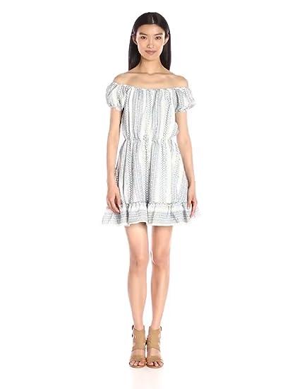 3b8c02310680 Lucca Couture Women s Off Shoulder Printed Flounce Hem Dress