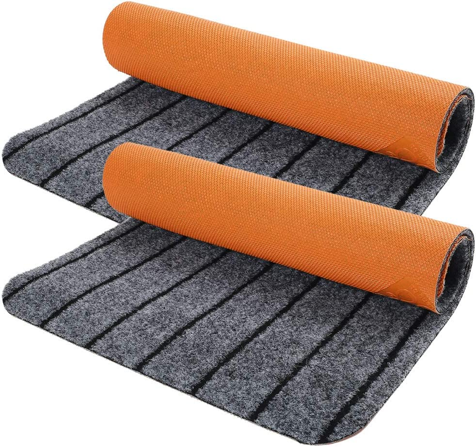 Door Mat Outside Inside with Non-Slip Rubber Backing, 2-Pack 17