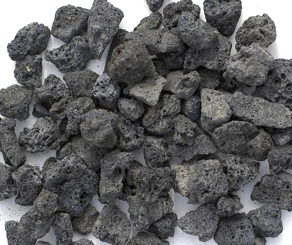 Black Lava Rocks for Fire Pit, 1 Cu Ft, (35 to 40 pounds). Naturally Formed Volcanic Rock Mined in The USA. Varies in Size from 1/2'' to 1 1/2'' by FirepitOutfitter