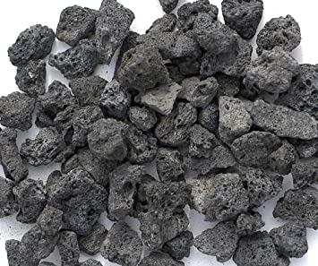 Lovely Black Lava Rocks For Gas Fire Pit, 1 Cu Ft, (approx. 35