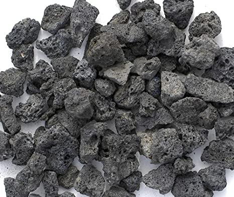 Black Lava Rocks for Gas Fire Pit, 1 Cu Ft, (approx. 35 - Amazon.com: Black Lava Rocks For Gas Fire Pit, 1 Cu Ft, (approx. 35