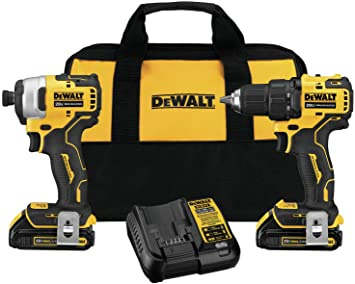 DEWALT ATOMIC 20V MAX Cordless Drill Combo Kit , Compact (DCK278C2)