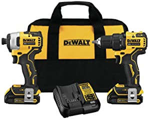 DEWALT DCK278C2 ATOMIC 20-Volt MAX Lithium-Ion Brushless Cordless Compact Drill/Impact Combo Kit