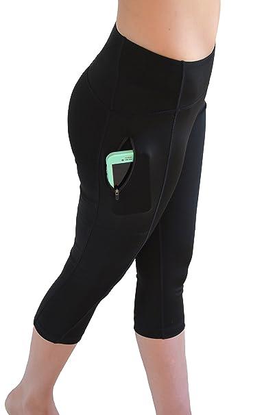 1b26b5afd TIDAL COMFORT Women s Crop Legging with Zipper Pocket at Amazon ...