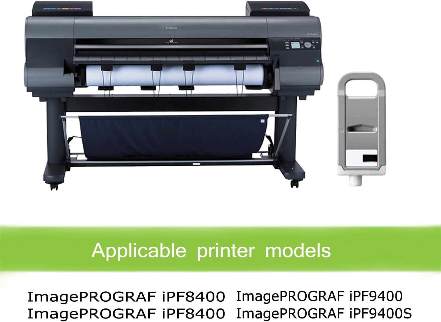 Awesometoner Compatible Ink Cartridge Replacement for Canon PFI-706BK use with ImagePROGRAF iPF8400 Black, 2-Pack 8400S