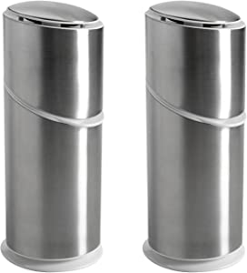 OXO Good Grips Toothbrush Organizer, Brushed Stainless (Set of 2)