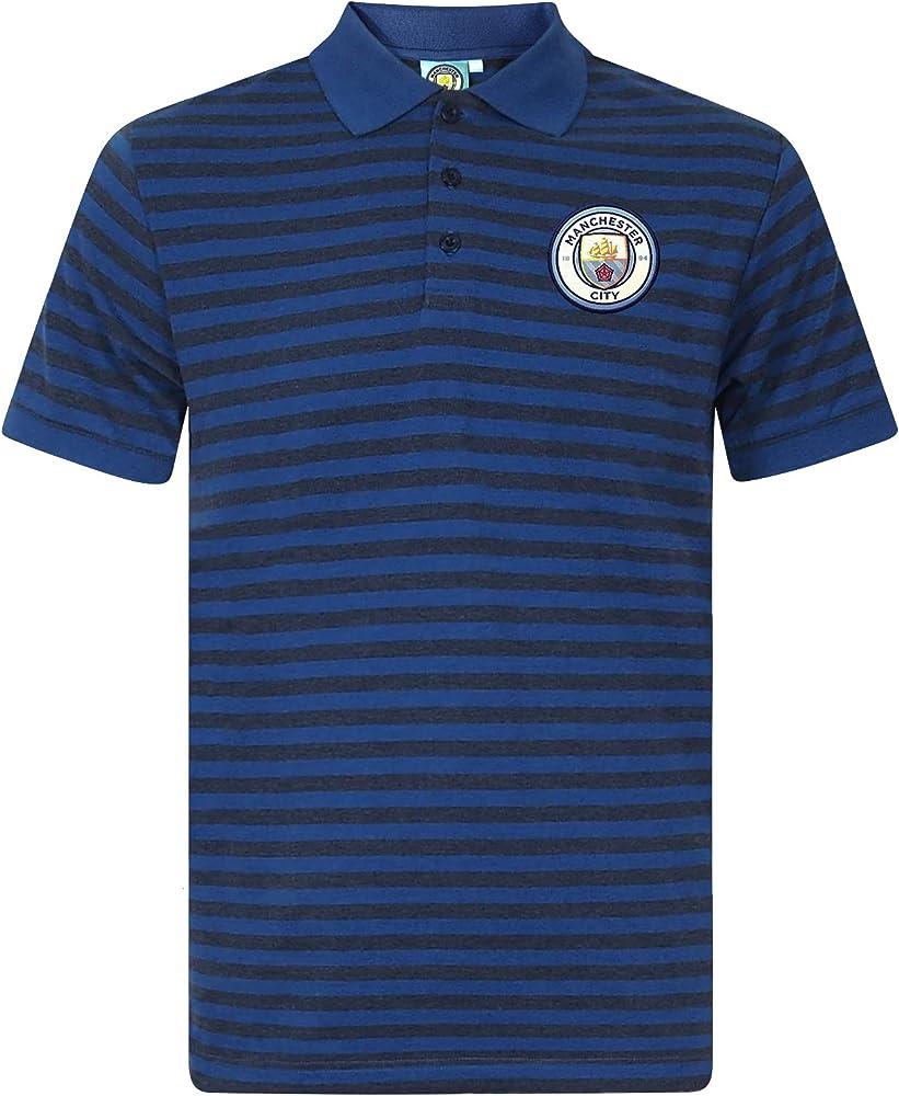 Manchester City F.C. - Polo para hombre, diseño de rayas, color ...