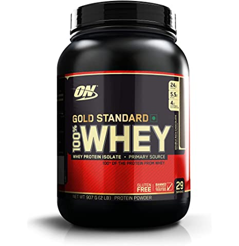 Optimum Nutrition  ON  Gold Standard 100% Whey Protein Powder   2 lbs,  Double Rich Chocolate  Whey Proteins