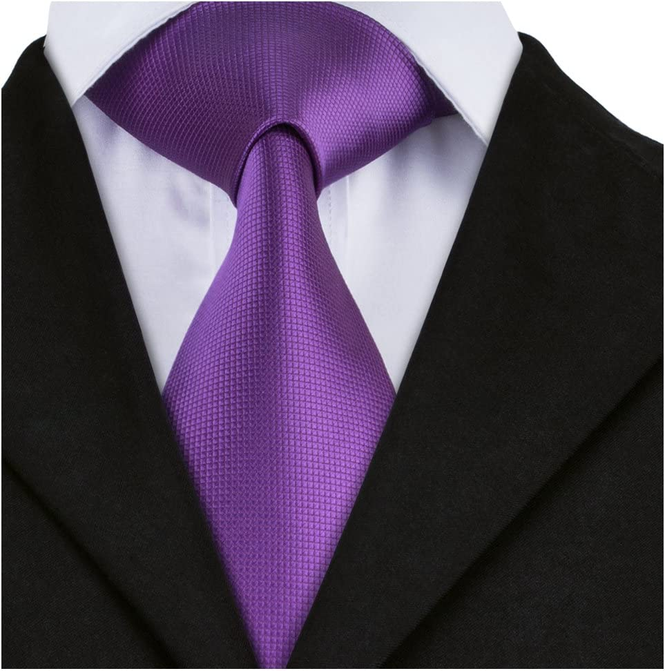 Barry.Wang Gold Ties for Men Wedding Formal Necktie Set Solid Color
