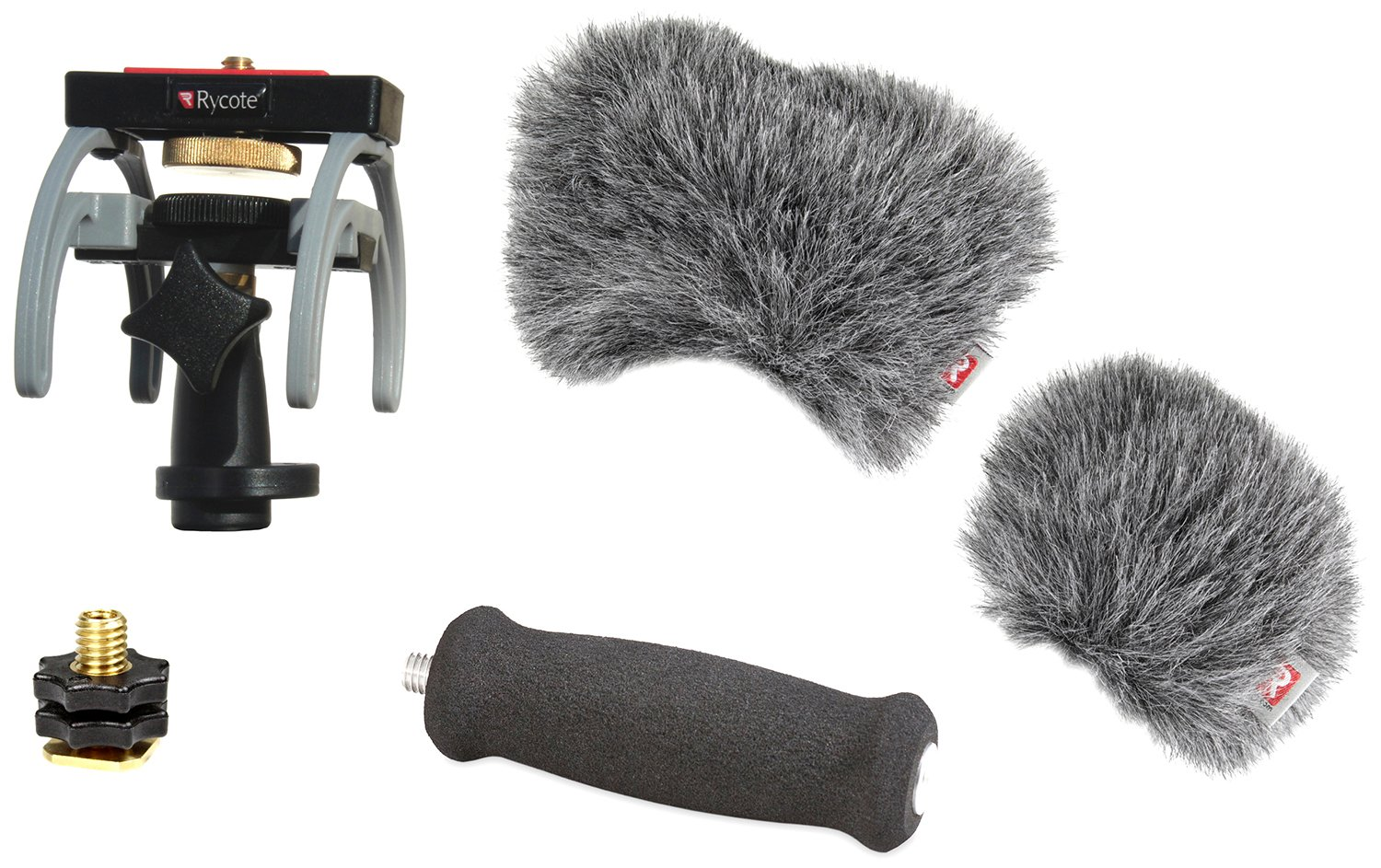 Rycote Portable Recorder Audio Kit for Zoom H6 Digital Recorder, Includes Suspension Mount, Mini Windjammer, Extension Handle, Swivel Adapter 046023