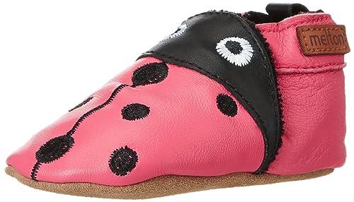 Ladybug suavePantofole Melton Babyshoe Cuero Bimba QChtdrs