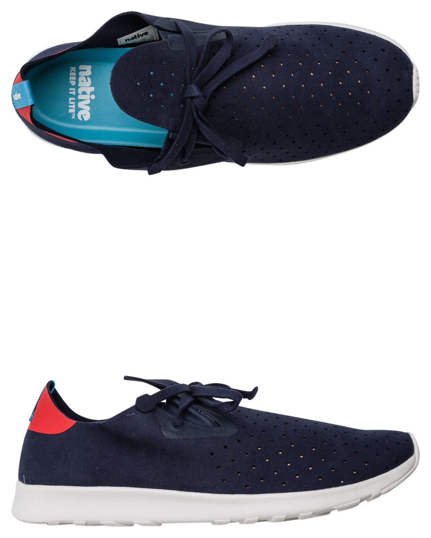 Native Unisex Apollo Moc Fashion Sneaker. B011PMFQT6 11 B(M) US Women / 9 D(M) US Men|Regatta Blue/Torch Red/Shell White