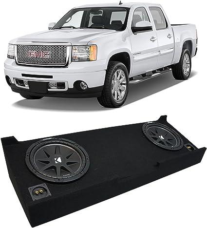 "2007-2013 GMC Sierra Ext Cab Truck Harmony R124 Dual 12/"" Sub Box Enclosure New"