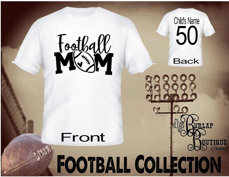 Amazon Handmade Personalized Football Shirt Football Mom Tee