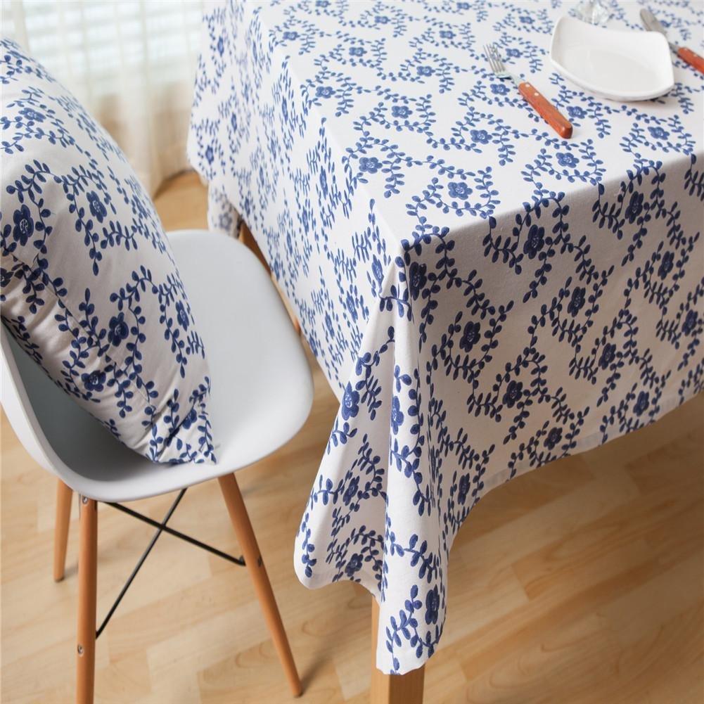 Rechteckige Tischtücher, Minimalismus Baumwoll für Hanf Material für Baumwoll Plain Tischwäsche für Esszimmer, Küche, Hotel, Cafe, Restaurant , 140*140 cm e06b7b