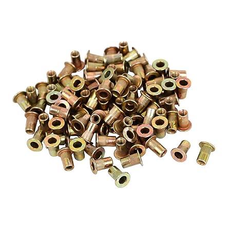 4mm M4 RIVNUTS COUNTERSUNK THREADED RIVET NUTS INSERTS NUTSERT ZINC PLATED