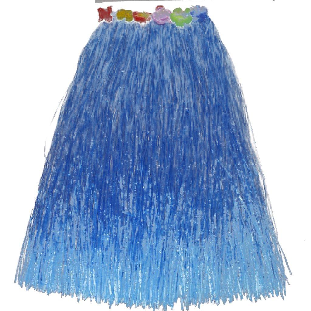 Hawaiano Tropical Hula Luau Falda De Hierba Bailarina 80cm - Azul ...