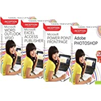 INCEPTION INDIA Learn Microsoft Office + Adobe Photoshop - 9 Full Courses (4 Cds)