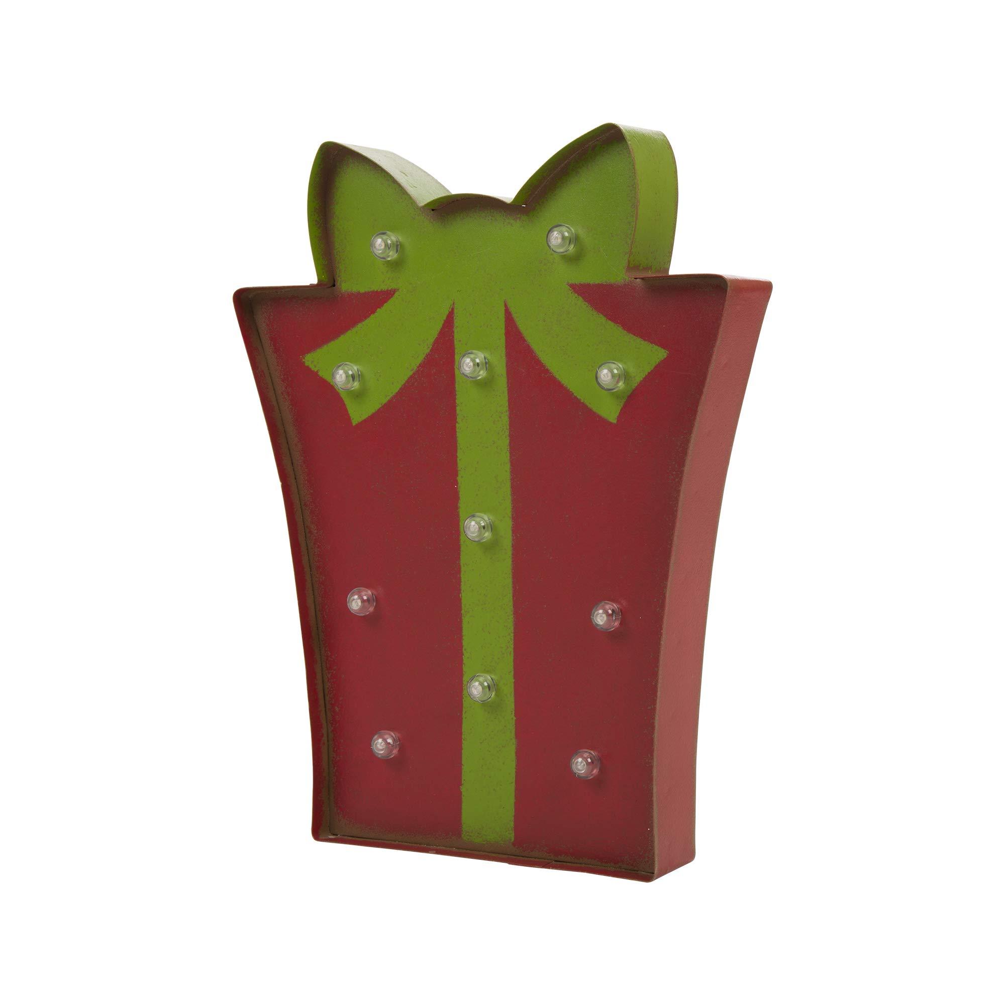 Glitzhome Marquee LED Gift Box
