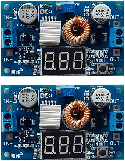 DC 4.5-40V To 5V 2A USB Charger DC-DC Step-down Buck Converter Voltmeter CHIP 44