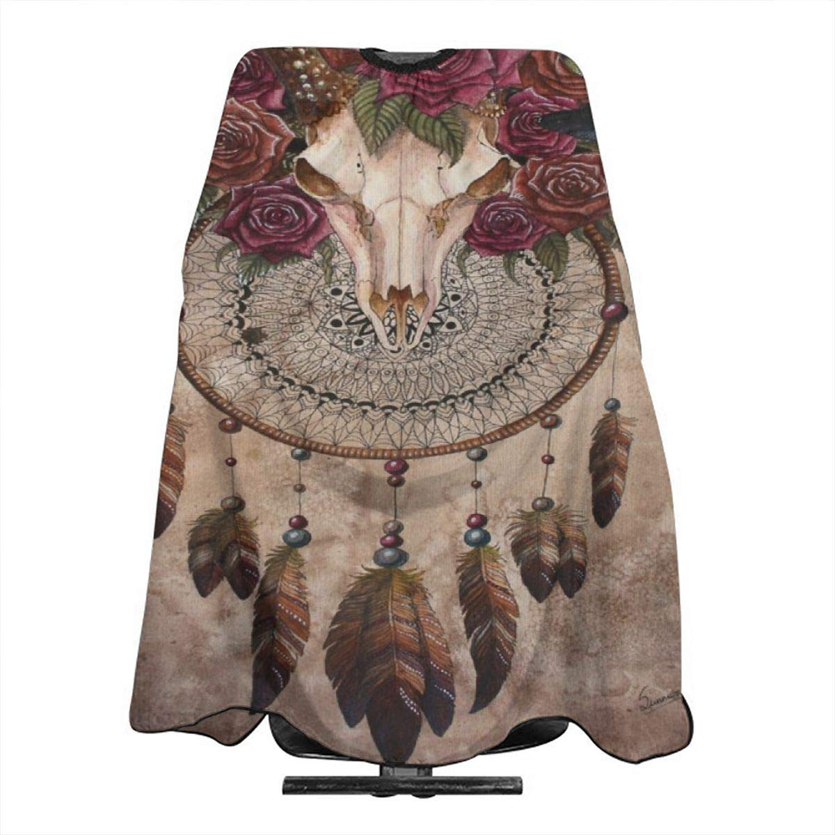 Beautiful Sheep Skull Barber Cape Haircut Gown Professional/Home Salon Hair Cutting Hairdressing Hairdresser Apron for Adult/Women/Men by OuLian