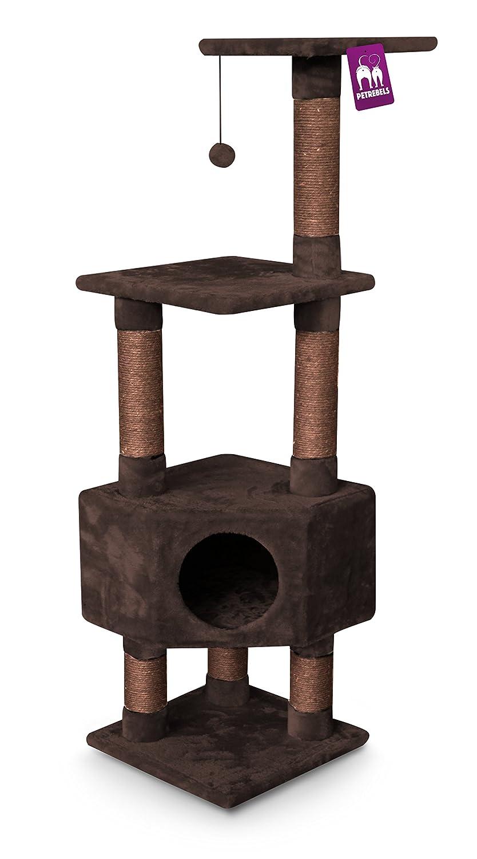 petrebels esquina de gatos de rascador Kings & Queens Elizabeth 135 Royal marrón, tamaño mediano. A los arañazos Muebles para todos los gatos: Amazon.es: ...