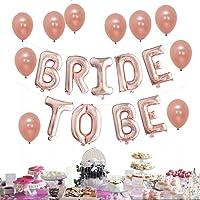Birde To Be Globos, Bachelorette Party decoraciones, Rosas Doradas Decoraciones Para Duchas Nupciales Globos de 16 Pulgadas Banner con 10 Globos de Látex Decoraciones Kit, Ideal Para Despedidas de Soltera Ducha Nupcial Suministros de Celebración