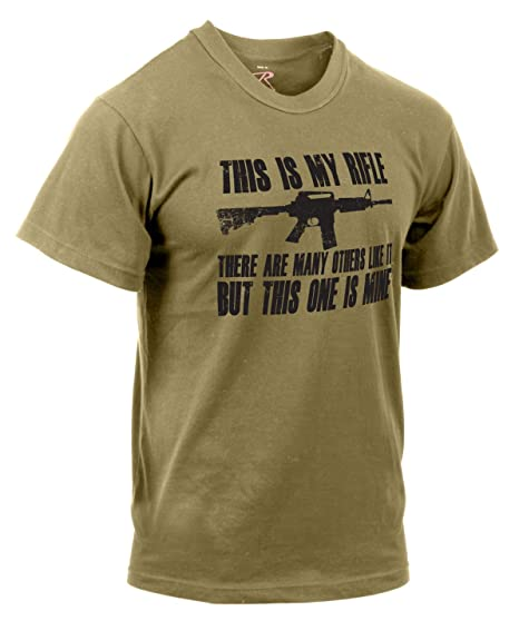 d6b40910 Image Unavailable. Image not available for. Color: Rothco 'This is My Rifle'  T-Shirt ...