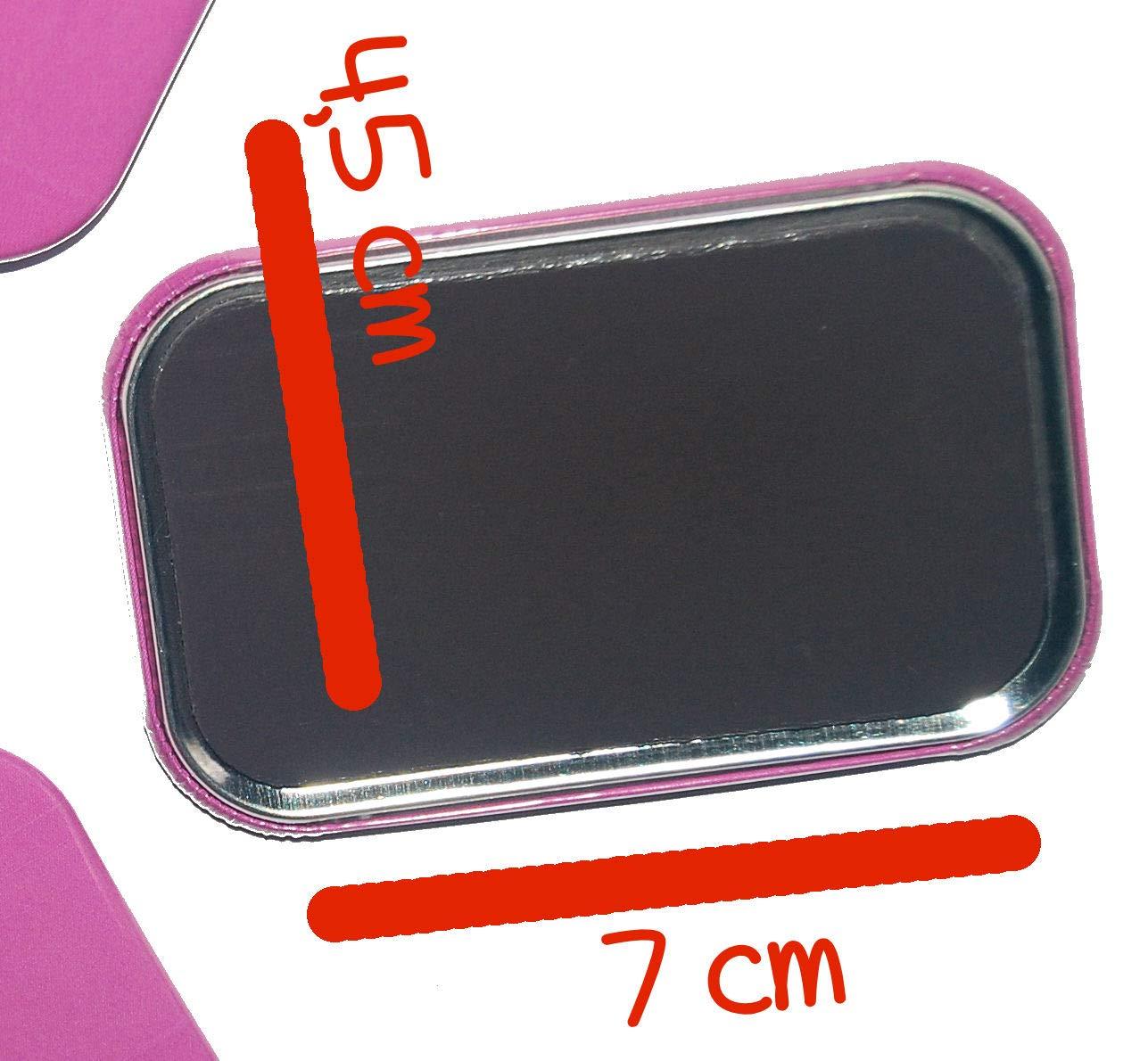 Magnet K/ühlschrankmagnet Rechteckig eckig gro/ß ca 7 x 4,5 cm gute Haftung Motiv Spruch Einhorn