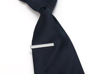 AnotherKiss - Juego de 3 pinzas plateadas para corbata, en caja de ...