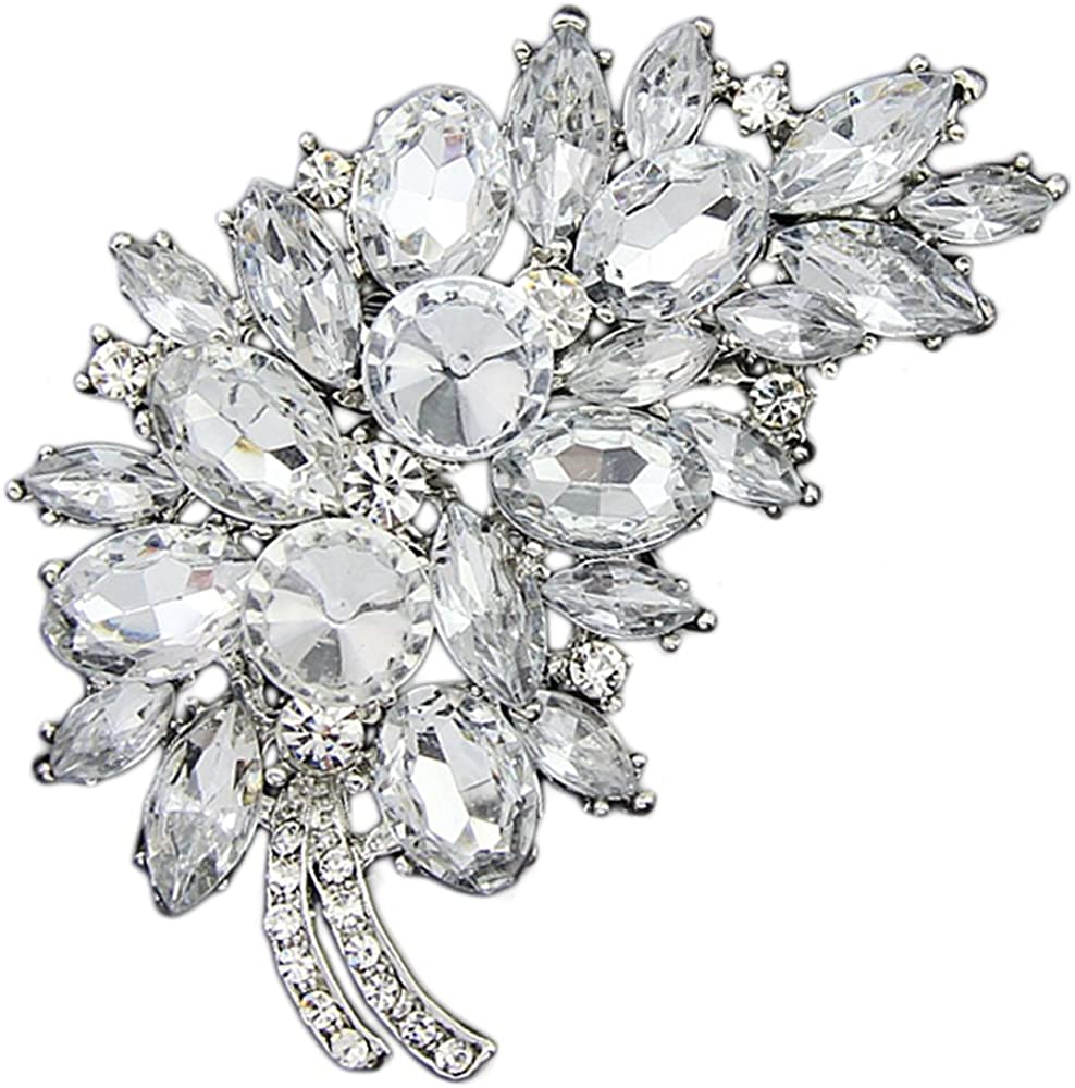 Crystal Diamante Enamel Flower Wedding Brooch Pin Lovely Animal Rabbit Brooches