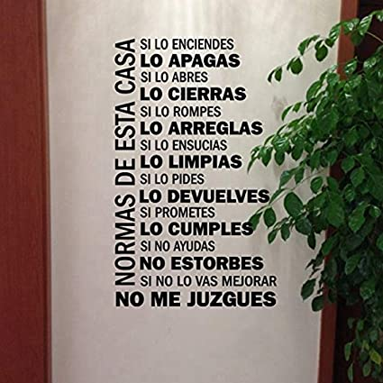 Amazon Com Quotes Spanish House Rules Home Family Quote Spanish