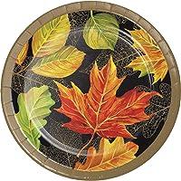 Creative Converting 332026case Elegant Fall Dessert Plates One Size (Multicolor)