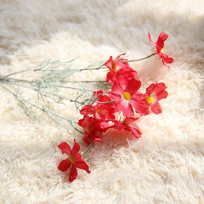SamMoSon 2019 Artificial con Flores Artificiales De Seda para Ramo De Novia Y Decoración,Bonito Bricolaje Flores Artificiales De Seda Falsas Hoja Floral ...