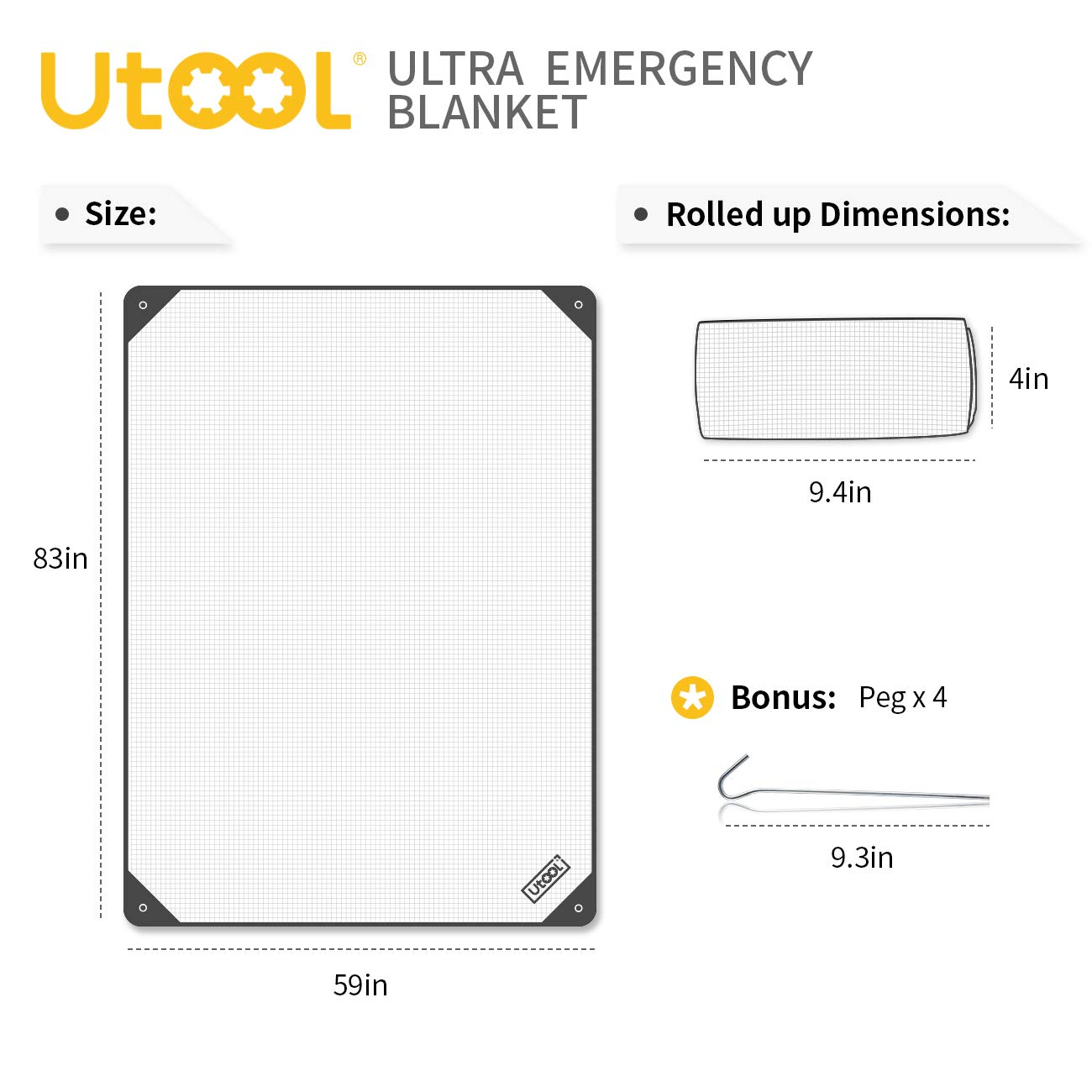utool ultra emergency blanket survival blanket heavy duty thermal outdoor waterproof reusable heat retention extra large, orange Thermal Blanket Diagram removable insulation blankets with