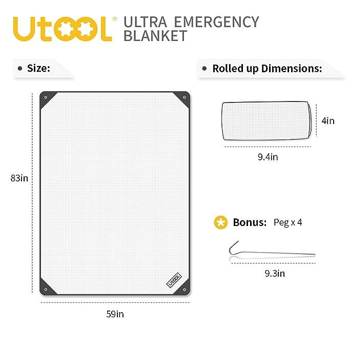 amazon com utool ultra emergency blanket survival blanket heavy