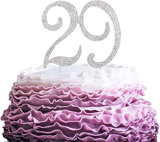 Terrific Amazon Com Lingpar 29 Years Birthday Cake Topper New Best Personalised Birthday Cards Arneslily Jamesorg
