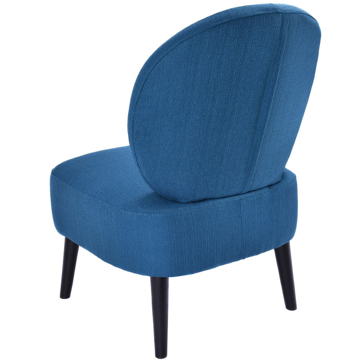 Brilliant Giantex Armless Accent Chair Round Back Dining Chair Home Living Room Furniture Blue Gmtry Best Dining Table And Chair Ideas Images Gmtryco