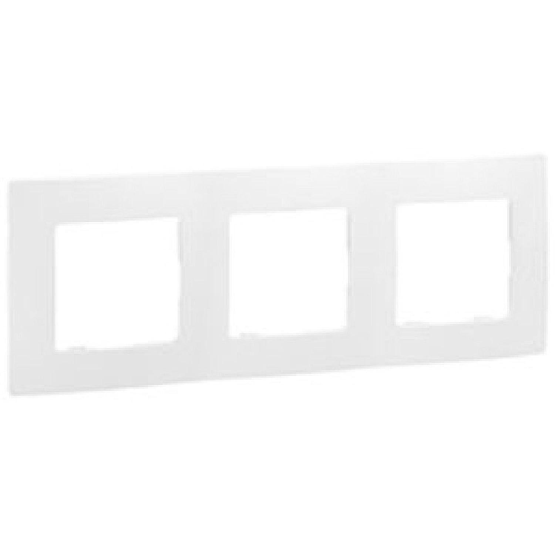 6560810104 Legrand 665004/Plaque pour 4/interrupteurs Blanc Nilo/é R/éf