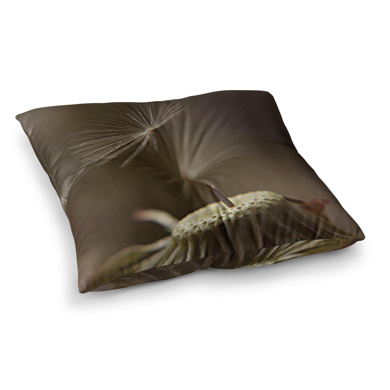 Kess InHouse Angie Turner One Wish Green White 23 x 23 Square Floor Pillow