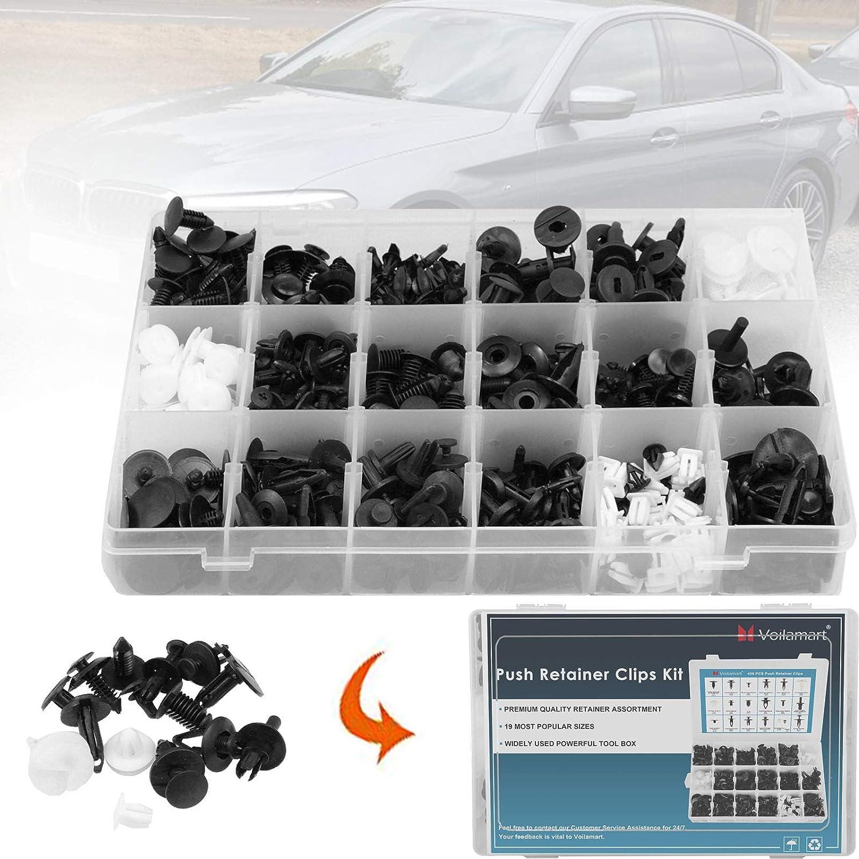 KKmoon 435Pcs Car Retainer Clips Plastic Fasteners Kit /& Trim Removal Tool Auto Fastener Clips Car Push Pin Rivet Trim Clips Fit for GM Ford Toyota Honda Chrysler