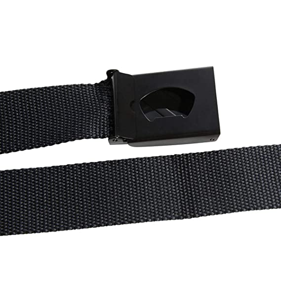 detailed look 7ea30 41a04 Amazon.com  adidas Golf 2019 Mens Lightweight Metal Buckle Clamp 3 Stripe Webbing  Belt Black One Size  Sports  Outdoors