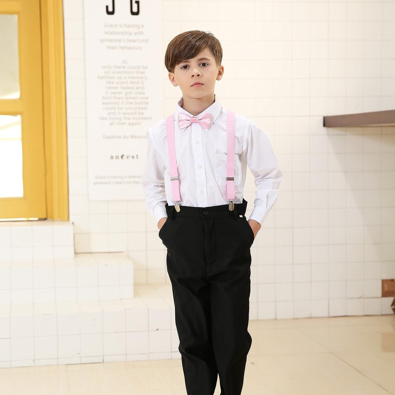 Children Kids Braces Bow Tie Set Adjustable Elastic Suspenders with Bowtie set for Boys /& Girls by Kajeer