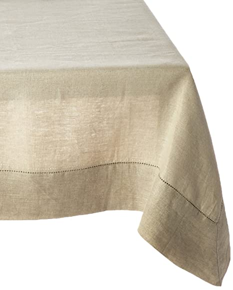Lovely Amazon.com: 100% Linen Hemstitch Table Cloth   Size 60x60 Ivory   Hand  Crafted And Hand Stitched Table Cloth With Hemstitch Detailing.