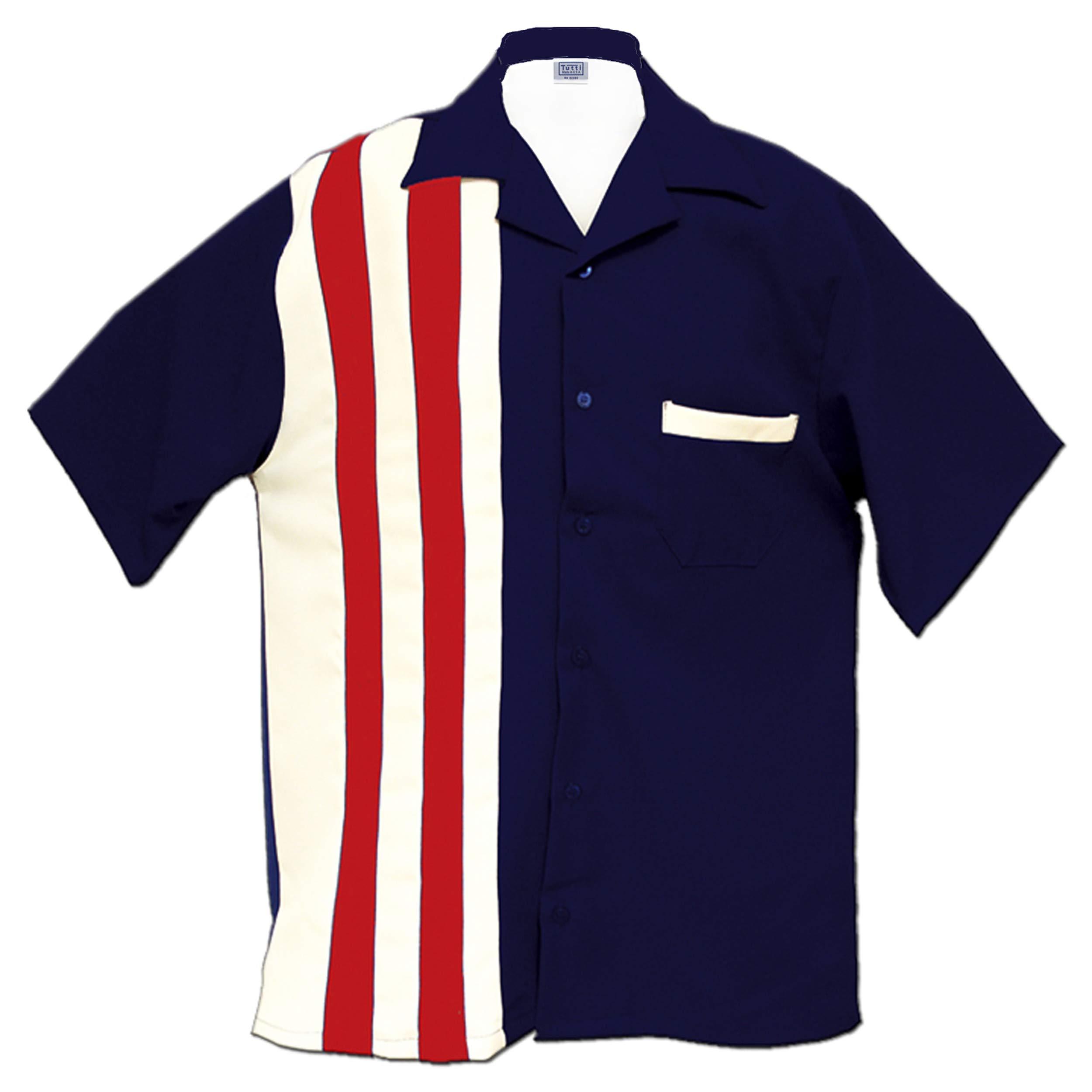 Tutti Retro Bowling Shirt America (Small)