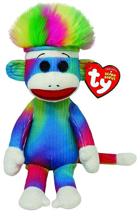 Amazon.com  Ty Beanie Baby - Rainbow Sock Monkey  Toys   Games 8baa7a26636