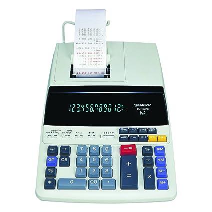Amazon Com Sharp El 1197piii Heavy Duty Color Printing Calculator