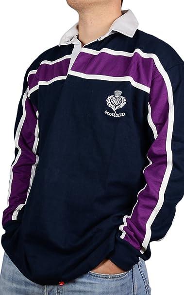 para Hombre de Escocia Rugby Camiseta Manga Larga Azul ...